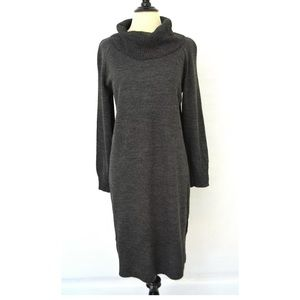 LENNIE for NINA LEONARD Cowl Knit SWEATER DRESS